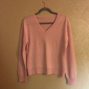 Pink cashmere sweater no size tags